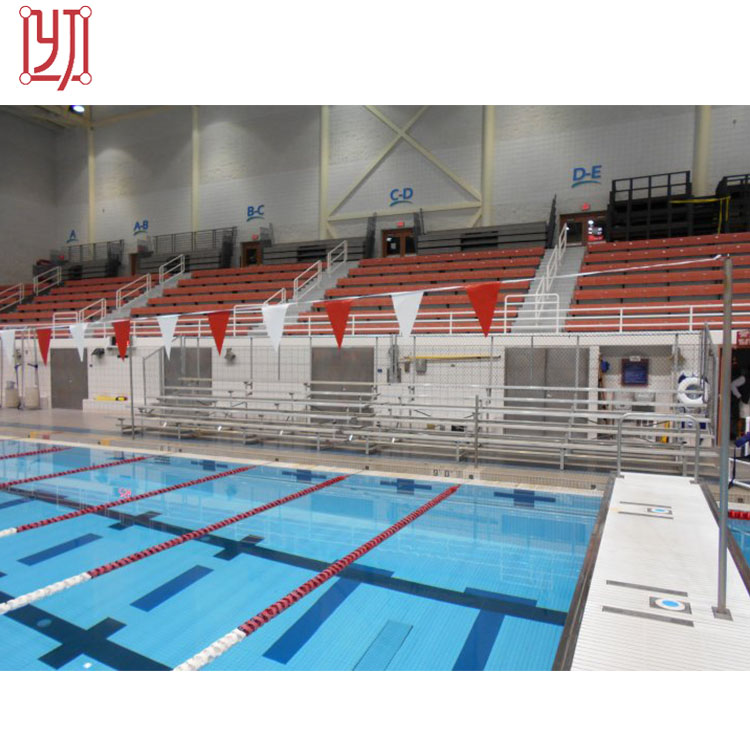 Small swimming pool bleacher grandstand