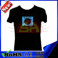 Magical customized logo light up T-shirt LED for all party