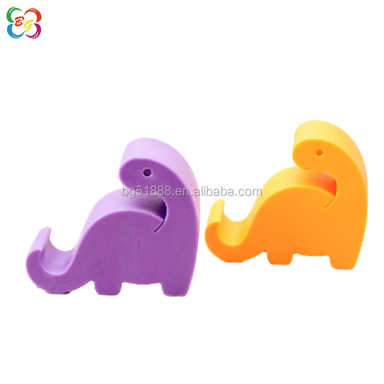 Factory wholesale silicone dinosaur shape cute stand mobil phone