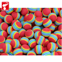 China OEM factory toy rainbow color eva anti stress kids toy ball small rubber ball