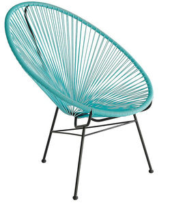 Outdoor plastic string chair, rattan family fun acapulco chair