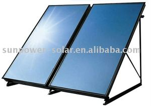 Flat plate solar collector with blue titanium I*