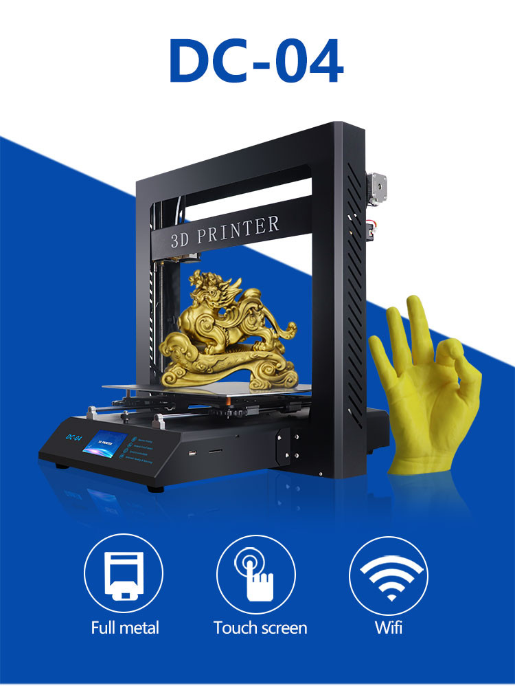 Volledige metalen frame 3.5 inch LCD Touch Screen Prusa i3 anycubic 3D Printer PLA ABS gebruik