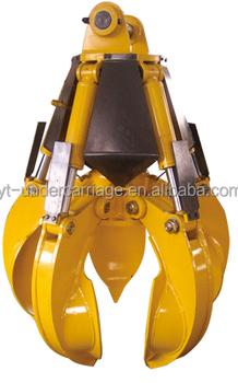 360 Degree Rotating Hydraulic Orange Peel/scrap Grab Bucket For 1-50t - Buy  Hydraulic Grapple Grab,Grapple Excavator,Scrap Picker Product on