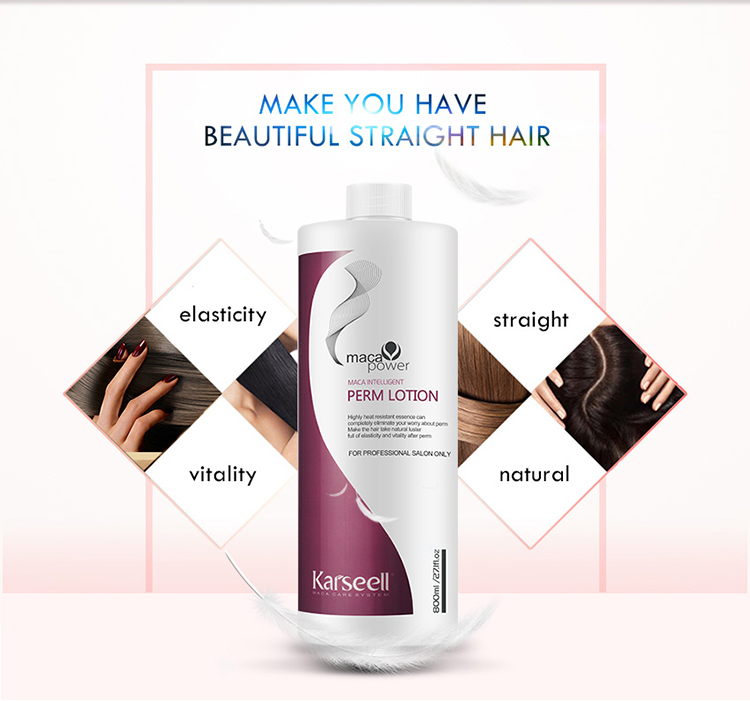 formaldehyde free Maca Essence Salon professional Permanent hair straight 3 in 1 ion perm cream
