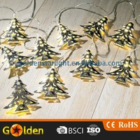 Wireless Solar powered led Christmas Decoration fancy Tree lights with solar panel