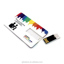 Top seller $1 USD Push-Plug Plastic Card Custom logo 4gb 8gb 2.0 USB Flash Drive