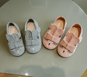 Spring Summer good quality lovely rabbit model baby prewalker shoes for girls