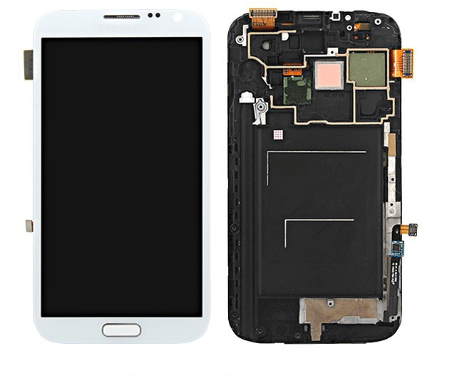 white color For Samsung GALAXY Note 2 N7100 LCD+Touch