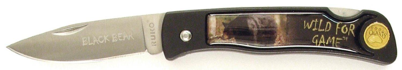 RUKO Black Bear Scene Wild For Game Folding Knife with 2-1/2-Inch Blade