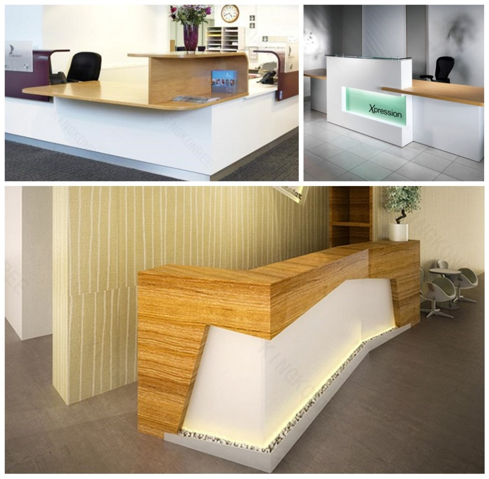 Wooden Rolling Bar Counter Table Office Table Design