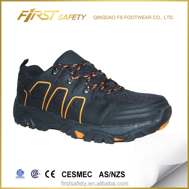 FS5022 Microfiber PU PVC Material EVA+Rubber Outsole Safety Hiker Shoes