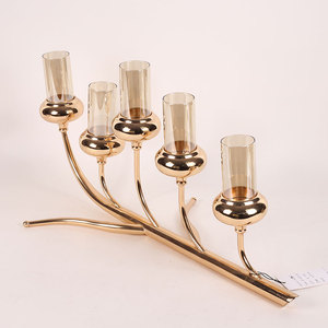 table centerpiece decoration 5 Tea lights metal tree branch candle holder