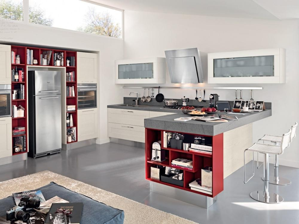 European Style Town Life Small Acrylic Furniture Handless Kitchen Cabinet