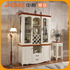 China Simple White Cheap Dining Room Wine Display Cabinet Design