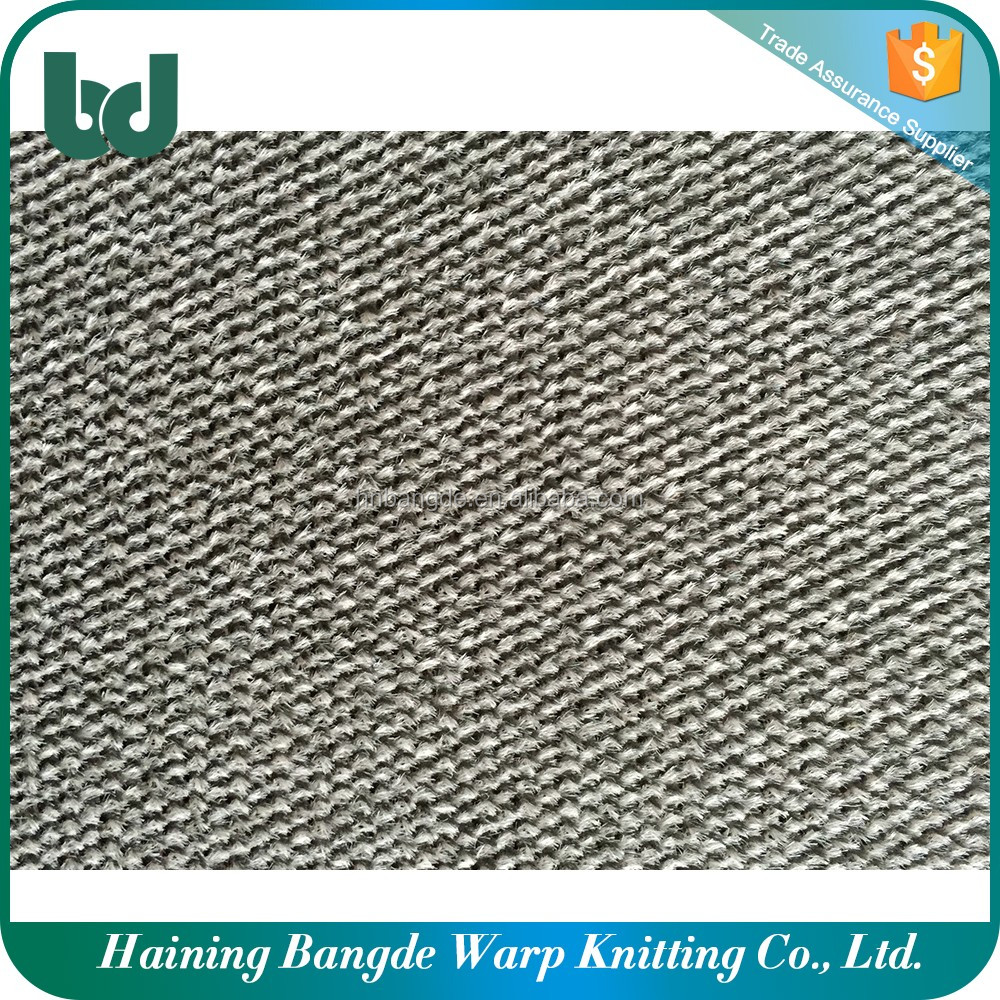 100% polyester material lint brushed tricot fabric