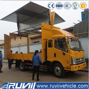 (Foton) 2016 insulated truck body/freezer box /cargo box truck van box body panels dry freight truck body mini truck