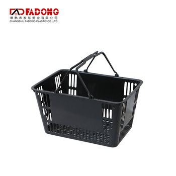 Supermarket plastic shopping basket for wholesale grocery store