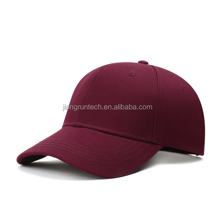 Wholesale Colorful Cotton 6 Panel Cured Brim Blank Cheap Custom Baseball Hats Caps No Minimum Buy Cheap Custom Hats No Minimum Cured Brim Cap Cheap