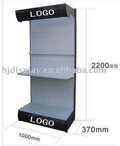 free standing portable aluminum rotating jewelry display