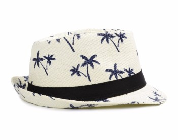 Children sun hats jazz caps boy fedora trilby girls casual paper summer  beach straw sun hat 883c02498933