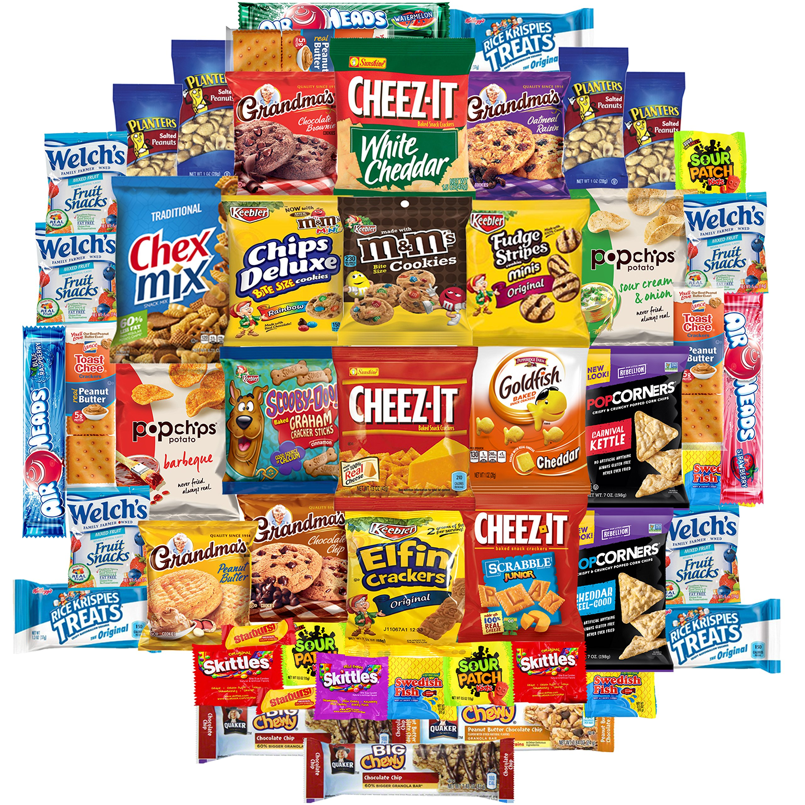 Cookies, Chips & Candies Care Package Variety Pack Bundle Sampler (50 Count)