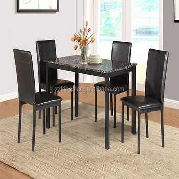 Faux Marble Top Restaurant Furniture Dining Banquet Table Chairs