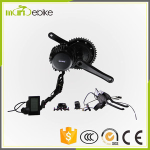 48V 500W 8FUN CENTER MOTOR/MID DRIVE EL ECTRIC BIKE KIT BBS-01 WITH BOTTLE TYPE BATTERY
