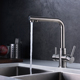 Modern stainless steel Kitchen Purifier 3 way faucet with Pure Water Flow Filter Tap