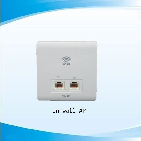 300 Mbps in-wall AP for WIFI/WLAN coverage system OEM