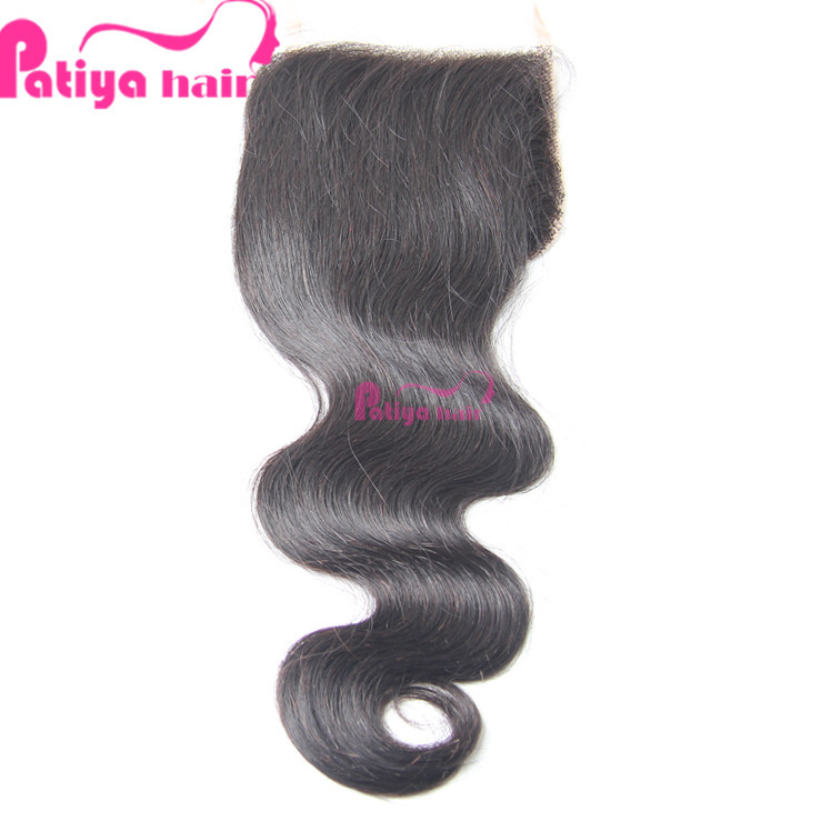 Smooth and Soft Cheap Indian Remy Hair Weave Virgin Full Lace Silk Base Closure