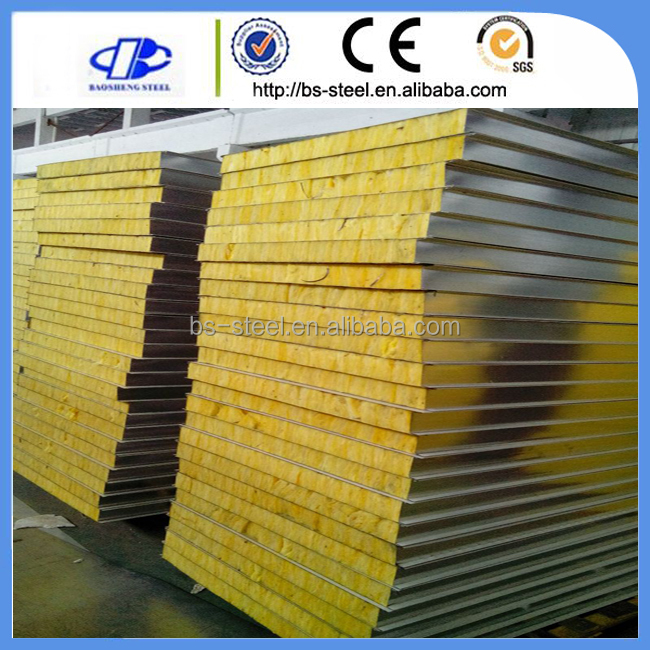 Marine Interior accomodation material Type C Rock Wool Sandwich Panels For shipbuilding