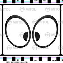 HEAD LAMP RIM For Mini Cooper R56 07-on Gloss Black ABS Cover
