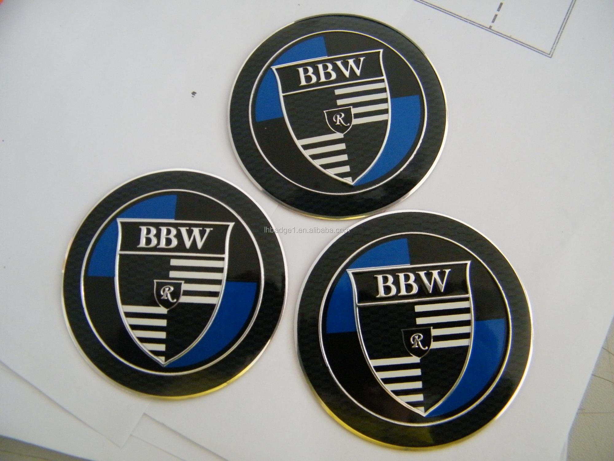 aluminum emossed badge /sticker for car