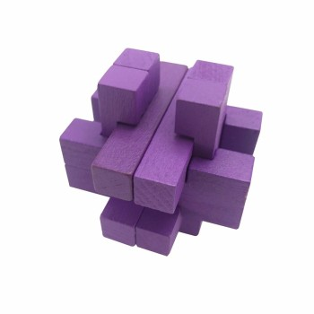 4.5cm small mini 3D special education toy brain teaser wooden trap puzzle IQ test game