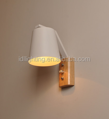 Modern Style and wood iron Material wall lamp bedroom bedside wall light