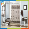 Printed Polyester Lace Shower Curtains