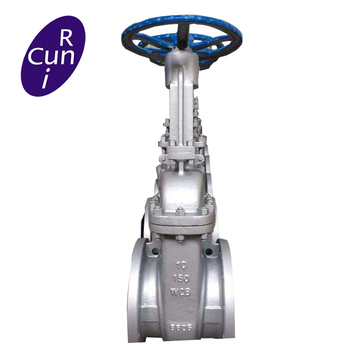 API600 cast steel rising stem flange gate valve with renewable seat