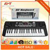 Black 37 keys electric keyboard with microphone