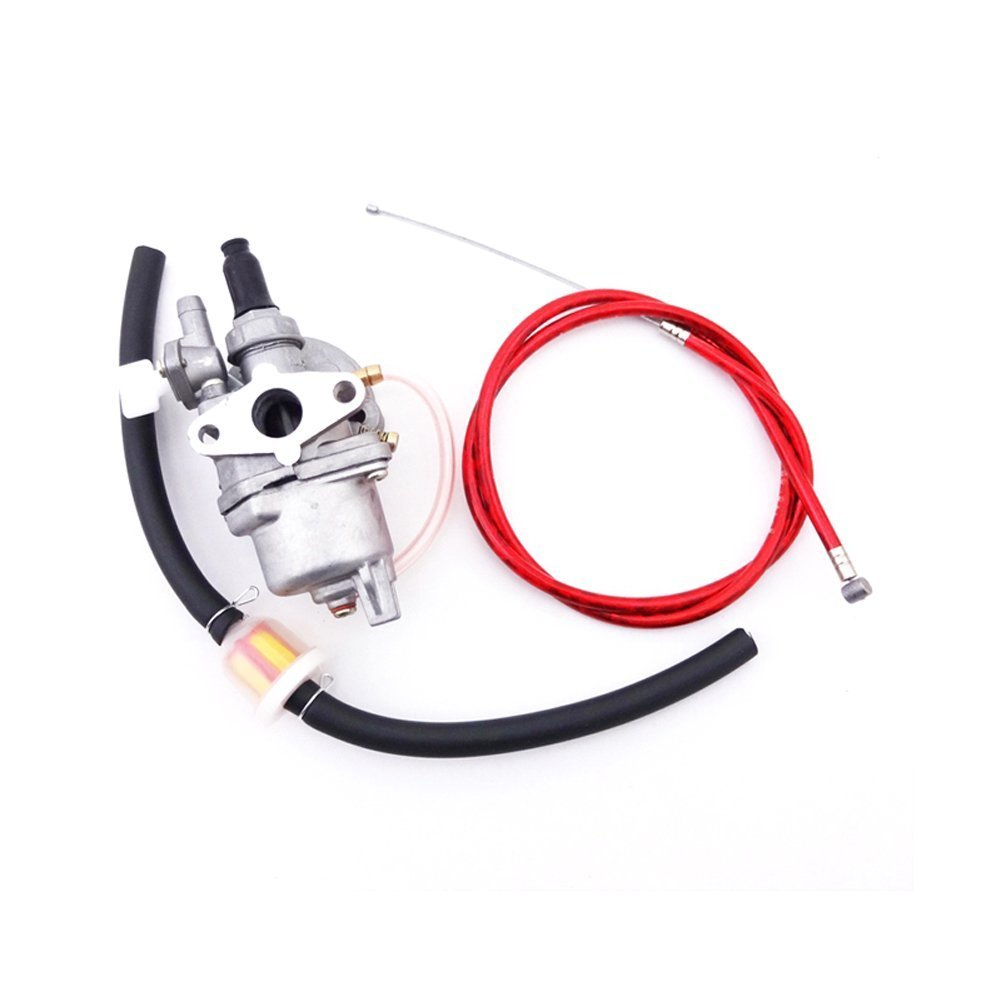 TC-Motor Red Gas Throttle Cable + Carb Carburetor + Fuel Line Hose Filter For 2 Stroke 47cc 49cc Engine Parts Mini Dirt Pocket Bike Moto