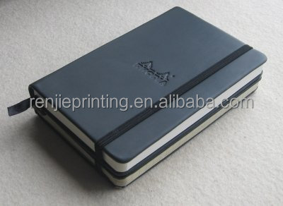 Printing Customized Pu Leather School Notebook With Elastic Band