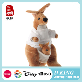 Custom Stuffed And Plush Kangaroo Toy With Baby Buy Plush