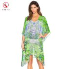 New Arrival beach cover up dress chiffon sarong tops kaftan beach pareo