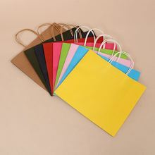 Popular many patterns durable recyled kraft paper bags