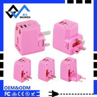 2017 patented accessories smart dual usb all in one multiple travel adapter and converter
