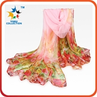 MOQ 100PCS digital print custom design manufacturing 100% wholesale china scarf silk scarf