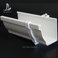Plastic building materials 5inch 7inch pvc rain gutters roof drainage downpipe gutter malaysia