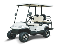 CE approved 4 seat electric aluminum chassis golf buggy Club car for hotel and resort