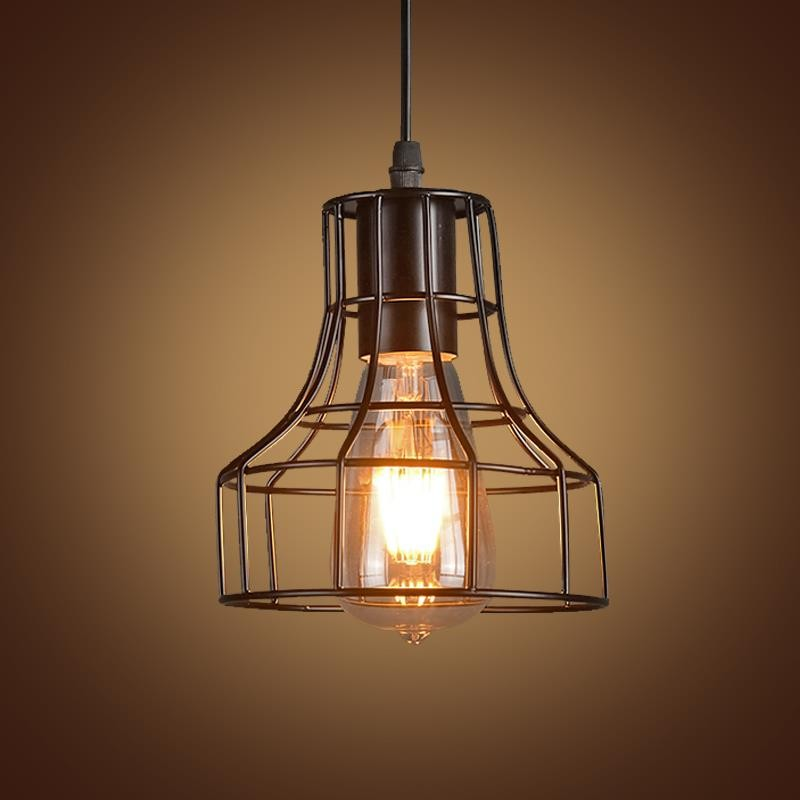 Rh Loft Industrial Style Iron Cages Pendant Light Bar