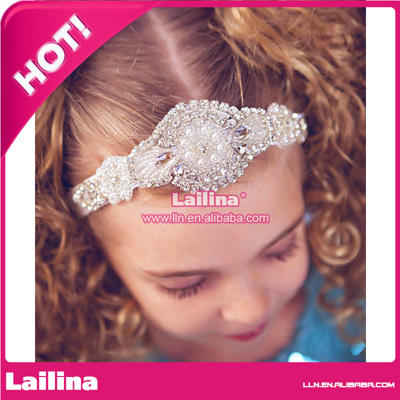 factory wholesale classic design hot sale in USA handmade Rhinestone crystal baby headband hair accessories